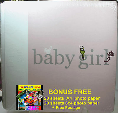 "BABY GIRL Scrapbooking ""Creative Memories"" 12 x12 Coverset Flex-Hinge Album"