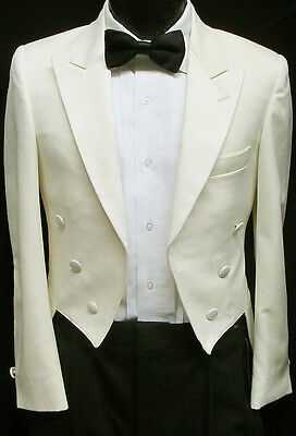 Ivory 6 Button Tuxedo Tailcoat Dickens Christmas Halloween Costume Theater 40R
