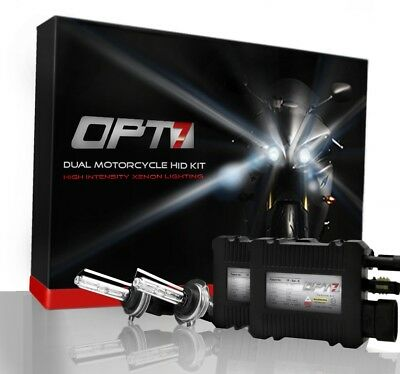 OPT7 SLIM HID KIT Motorcycle 2x H7 8000K Ice BLUE Light XENON Conversion