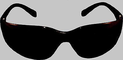SHADE 5 WELDING  CUTTING GLASSES - ALL BLACK with GREEN TINT