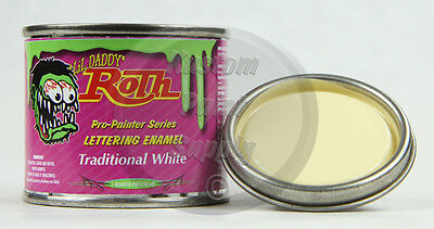 1/4 Pint - Lil' Daddy Roth Pinstriping Enamel - Traditional White