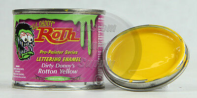 1/4 Pint - Lil' Daddy Roth Pinstriping Enamel - Dirty Donny's Rotton Yellow