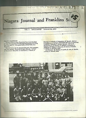Niagara Journal 1973 Newspaper Niagara Wisconsin