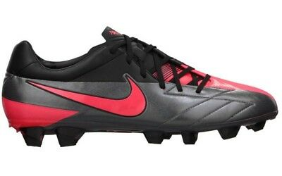 NEW Mens 6.5 7 NIKE T90 Laser IV FG Dark Grey Solar Red Black Soccer Cleats