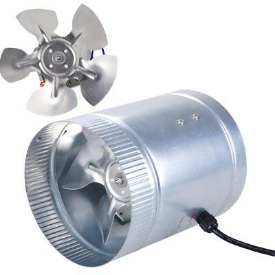 """6"""" Inch Duct Booster Inline Blower Fan 260 CFM Exhaust Ducting Cooling Vent Fan"""