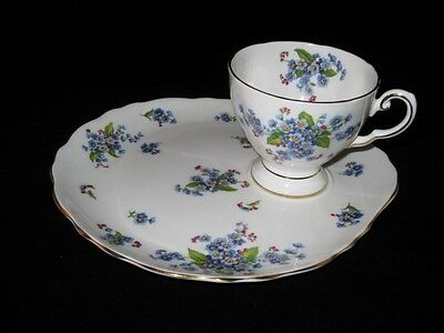 Royal Tuscan - FORGET ME NOT - Snack Tray & Cup Set