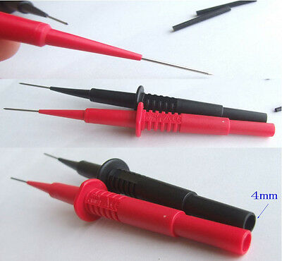 4PCS Insulation Piercing Needle Test Probes for 4mm banana plug Multimeter jack