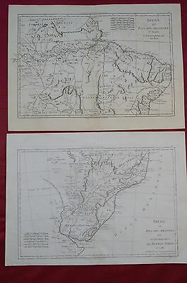 1787- Two Maps Of Brazil By Bonne