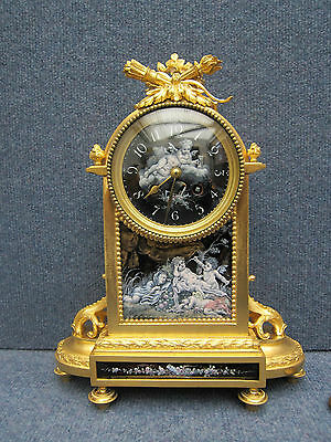 Sevres French Limoges Enamel Gilt Bronze Clock 19Th Pate-Sur-Pate Grisaille