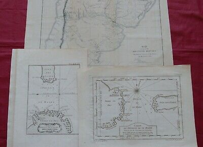 ARGENTINA 18th/19TH century - 3 MAPS including Bellin