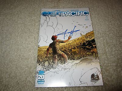 Great Pacific #1 Rare Phantom Variant Signed By Joe Harris At Wizard Nyc