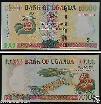 Uganda Commemorative Paper Money 10000 Shillings 2007 UNC