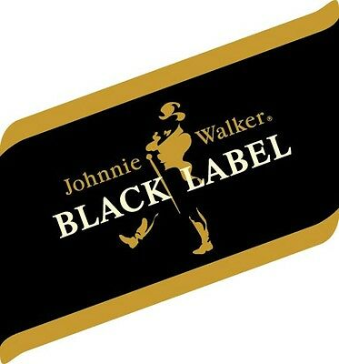 JOHNNIE WALKER Black Label Sticker Decal *DIFFERENT SIZES* Whiskey  Bar Wall