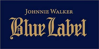 JOHNNIE WALKER Blue Label Sticker Decal *DIFFERENT SIZES* Whiskey  Bar Wall