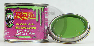 1/4 Pint - Lil' Daddy Roth Pinstriping Enamel - Dirty Donny's Goblin Green