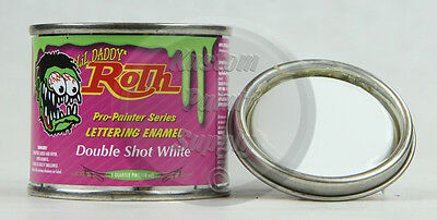 1/4 Pint - Lil' Daddy Roth Pinstriping Enamel - Double Shot White