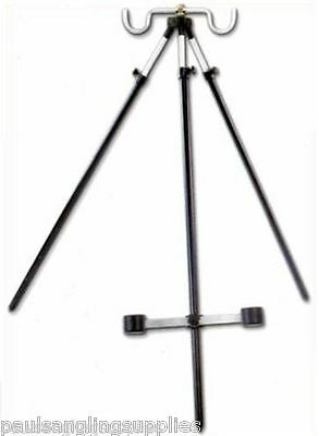 3-6ft Telescopic 2 Fishing Rod Beachcaster Tripod Beachcasting Rest Beach Stand