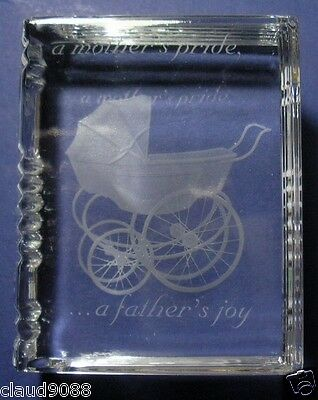 "Stuart Crystal ""memento  Making The Moment Last ""pride & Joy 6638244 Mint Boxed"