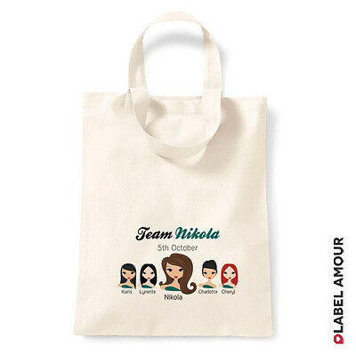 Personalised Party Favour Hen Do Bride to Be Custom Tote Bridesmaid Bag