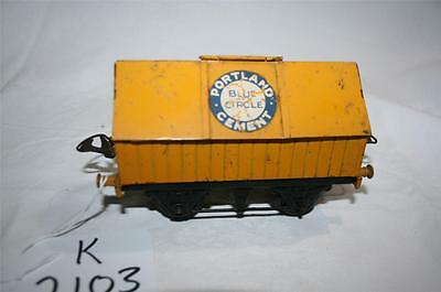 PREWAR o gauge clockwork  tinplate PORTLAND CEMENT wagon [k2103]