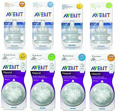 Phillips AVENT Flow Bottle Teats Dummy - All Sizes Available