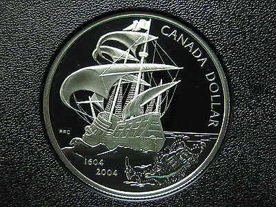 2004 400th Anniversary of French Settlement in North America Canada Silver Coin