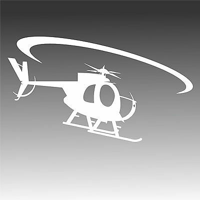 OH-6 In Flight Decal Hughes Chopper OH6 Helicopter Sticker 2