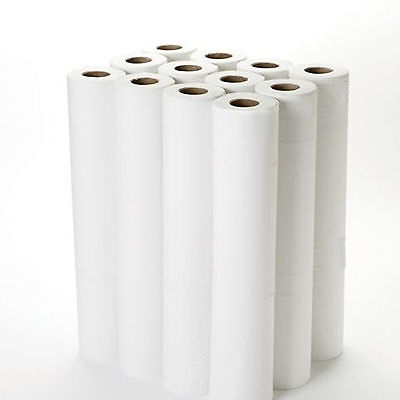 50m 2 Ply Hygiene Couch Paper Rolls Single or Case of 9 - Massage Bed Medical