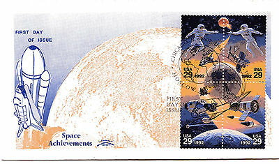 2631-34 Space Co-operation, Colonial cachet 'A', block of 4, FDC