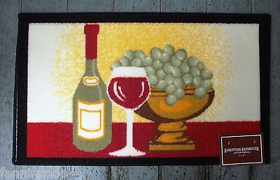 "WINE BOTTLE & GRAPES ACCENT RUG / MAT ~ WELCOME MAT ~ 17"" x 28"" ~ NEW"