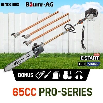 NEW Baumr-AG 65CC Pole Chainsaw Petrol Chain Saw Brush Cutter Brushcutter Tree