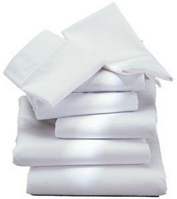 12 New T180 Twin Flat Sheets Hotel Resort Grade Quality 1888 Mills White Percal