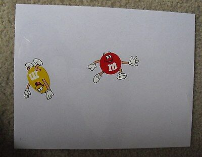 RARE Original M&Ms Cell Drawing of Red and Yellow M&M LOOK