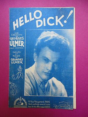 Partition : Hello Dick ! / Georges Ulmer