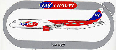 Old Airbus Sticker MY TRAVEL A321