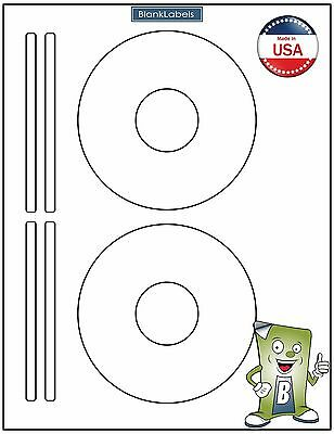 200 CD/ DVD Laser and Ink Jet Labels - Template 5931, 8931, 8692 -100 Sheets!