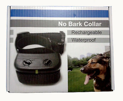 NEW Waterproof Rechargeable Small MEDIUM Anti Bark No Barking Dog Shock Collar