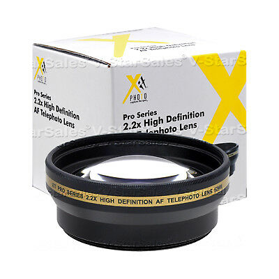 52mm XIT Pro 2.2x HD Telephoto Lens for Nikon D3100 D3200 D5000 D5100 D5200 D90