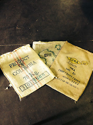 Lot of 20 Assorted Burlap Bags Coffee Bags Sacks - Wall art,storage,crafting,ect