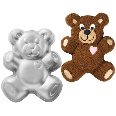 Wilton Novelty Teddy Bear Birthday Cake Baking Tin Pan Aluminium