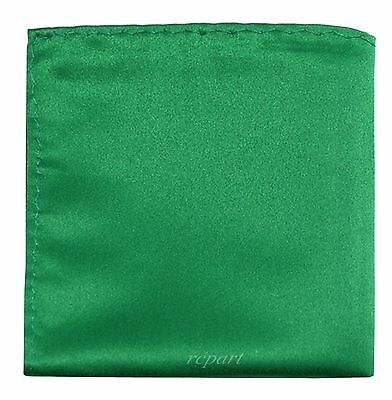 New Men's Polyester Pocket Square Hankie Only Emerald Green Prom Wedding