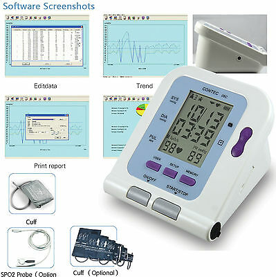 CONTEC08C Digital Upper Arm Blood Pressure Monitor Child+ Adult 2 cuffs,Software