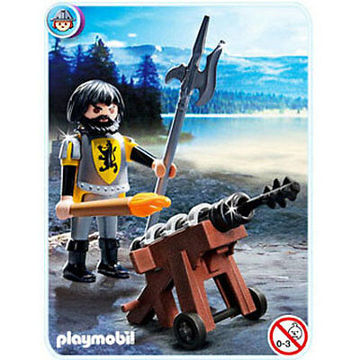 Playmobil - Knights - LION KNIGHT CANNON GUARD (#4870) - New Toy Figure