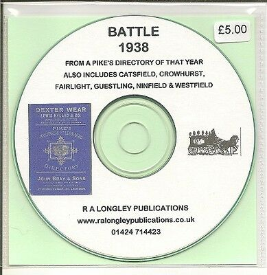 Battle, Sussex Pike's Directory 1938  [CD]