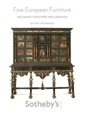 Sothebys European Furniture Tapestries Ceramics Auction Catalog Oct 2010
