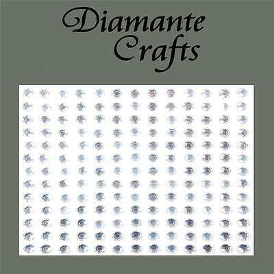 144 x 4mm Clear Diamante Stars Self Adhesive Rhinestone Craft Embellishment Gems