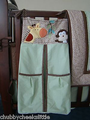 NEW High Quality Embroidered Nursery Diaper Nappy Stacker Organiser Bag Forest