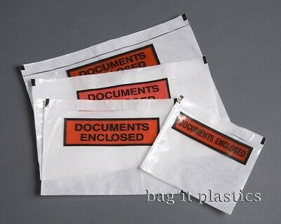 Document Enclosed Printed Labels Pouches Wallets Mailing Bags Posting, A7 A6 A5