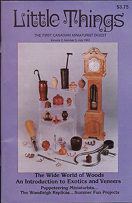 Little Things the First Canadian Miniaturist Digest July 1983 Volume 2 #3