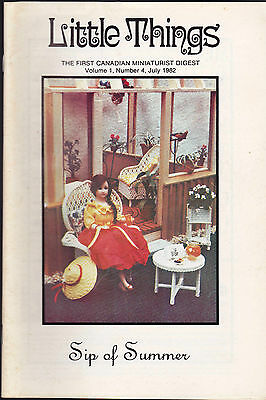 Little Things the First Canadian Miniaturist Digest June 1982 Volume 1 #4